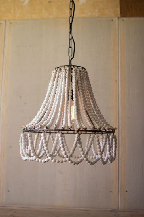Tailored Haven Beaded Chandelier Wooden Bead Chandelier Beaded