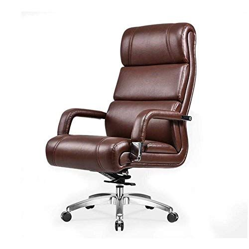 Eahkgmh Ergonomic Office Chair Desk Chair Computer Chair Adjustable Business Chair Pu Leather Swivel Cha Leather