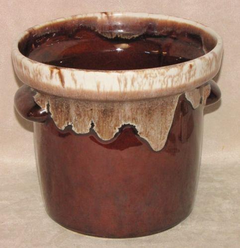 Vintage Mccoy Usa Ceramic Pottery 7015 Brown Drip Glaze