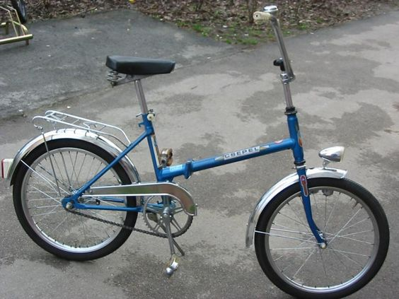 1980-as évekbeli összecsukható Csepel Camping kerékpár