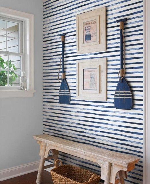 Designer Rooms With Coastal Nautical Wallpaper Decor Ideas House Interior Beach House Interior Home Decor