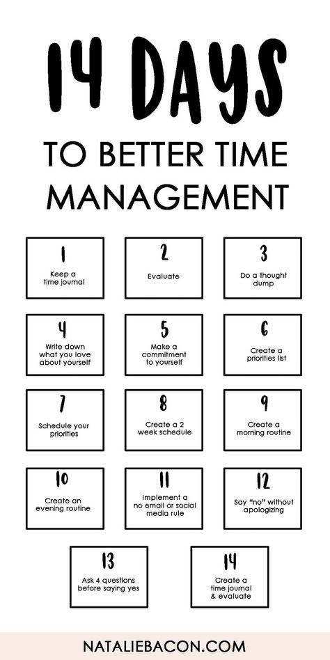14 Days To Better Time Management Free Download Template