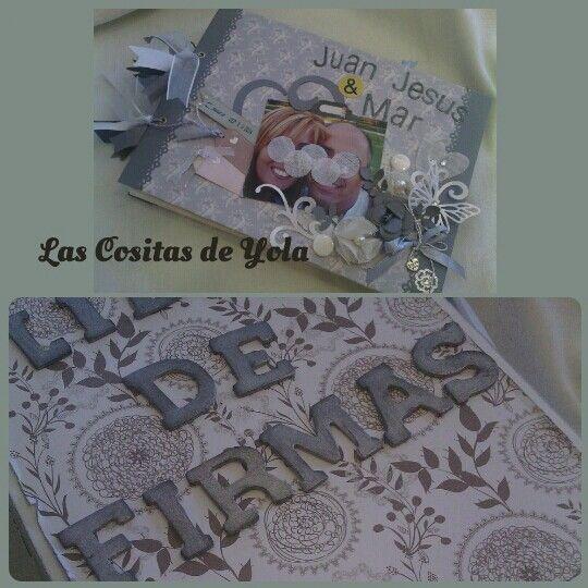 Bodas con encanto,Libro de firmas con caja,http://lascositasdeyola.blogspot.com/