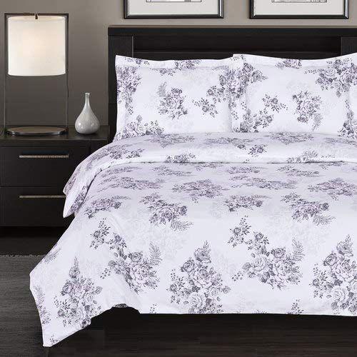 Golinens 100 Cotton Bally Floral Duvet Cover Set Reversible 300 Thread Count King Califor Duvet Cover Sets King Size Duvet Covers California King Size Bed