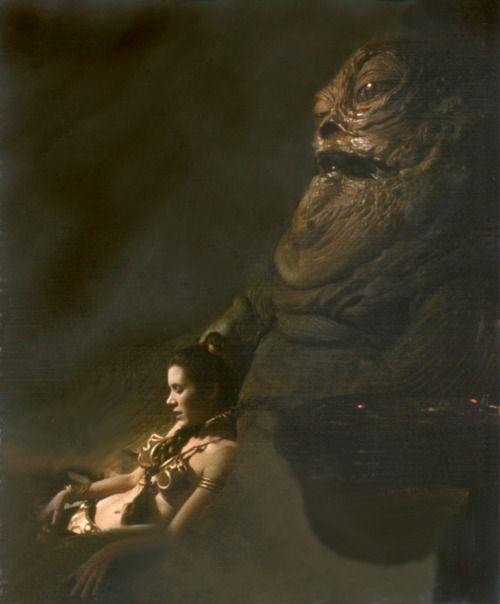 Jabba the Hutt and Princess Leia   Star Wars   Pinterest ... Jabba The Hutt Choked