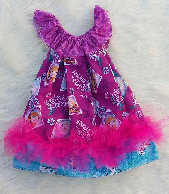 Frozen Basic Flutter Dress SIZE 2, elsa dresses, baby girl dresses,girls dresses,flutter dresses,handmade dresses,baby dress,princess dress by HopskotchKids2 on Etsy