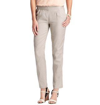 Zoe Ankle Pants in Stretch Linen Cotton