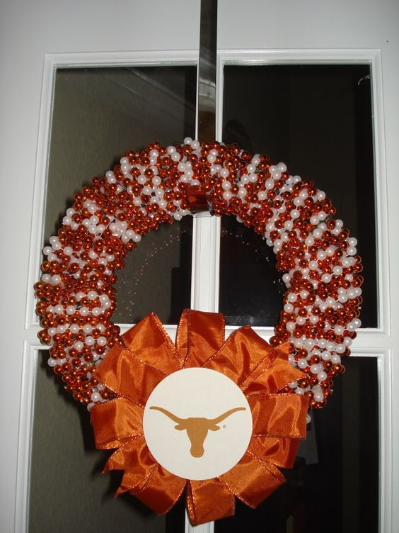 University of Texas Wreath  any team can be custom ordered!