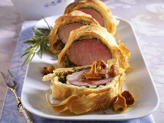 Weihnachtsessen mit Fleisch - feine Braten, Filet & Co. - filet-im-blaetterteig
