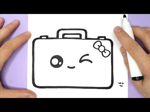 Comment Dessiner Une Valise Kawaii Youtube Dessin Kawaii Kawaii