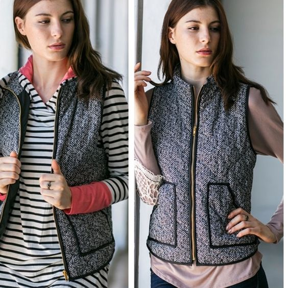 GORGEOUS PADDED VEST WITH FRONT ZIPPER ❤️ Lightweight Vest Has Gold Zipper. 100% Polyester. Jackets & Coats Vests