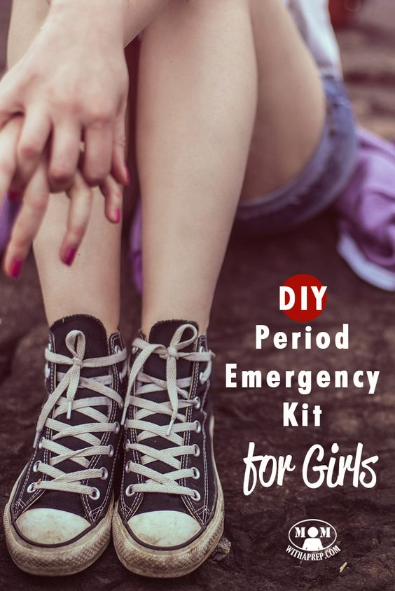 UGH! It happened ... at school ... but thank goodness you had your own DIY Period Emergency kit to help out!! Don't have one? Check out the list here!