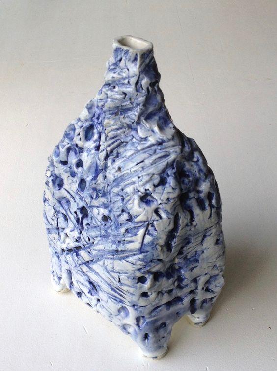 stoneware vessel: oxides + glaze 30cm high