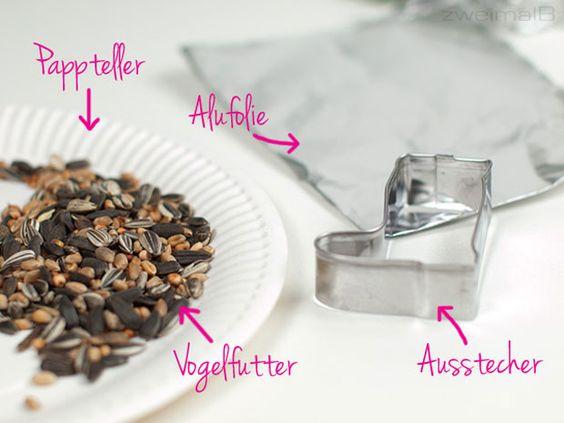 vogelfutter-Materialien