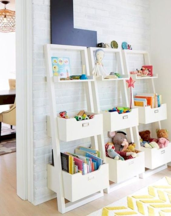 Cool 45 Adorable Playroom Organization Design Ideas. More at http://decoratrend.com/2018/04/14/45-adorable-playroom-organization-design-ideas/