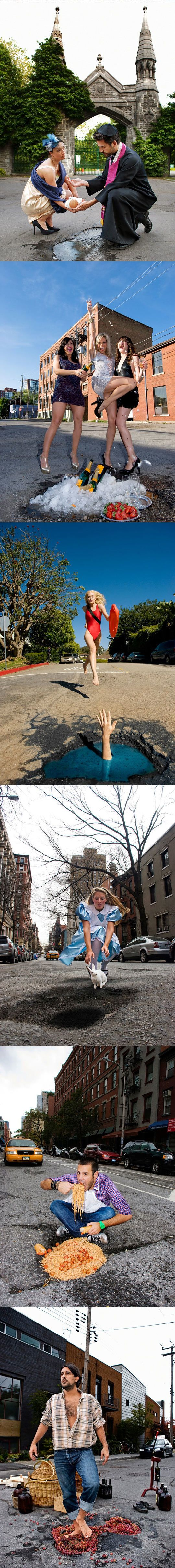 Embracing potholes  // funny pictures - funny photos - funny images - funny pics - funny quotes - #lol #humor #funnypictures