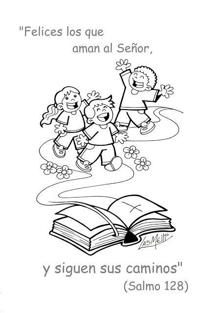 El Rincon De Las Melli Salmo Dibujado El Camino Del Senor Salmos Para Ninos Escuela Dominical Manualidades De La Biblia Para Ninos
