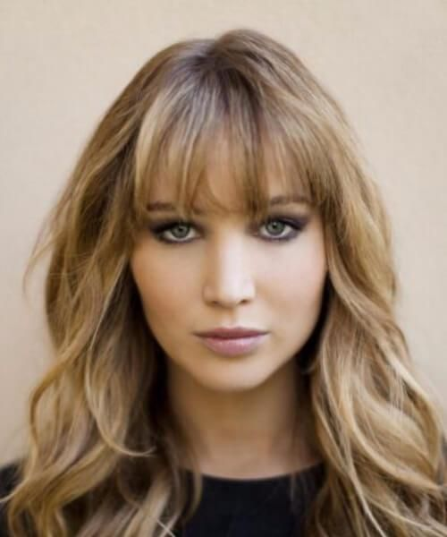 Jennifer Lawrence Hairstyles With Bangs Frisuren Mit Pony
