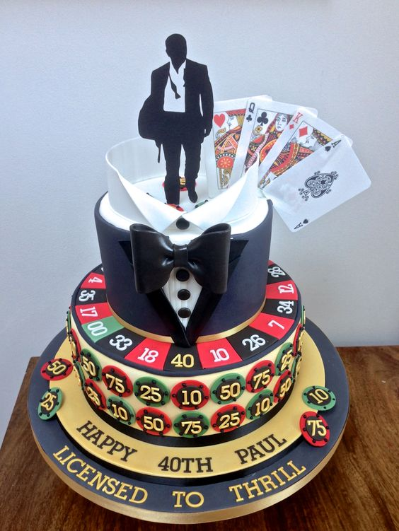 casino royale cakes | Casino Royale James Bond Cake | Cakes that are really unique ...
