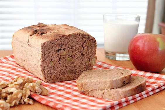 whole wheat apple walnut bread