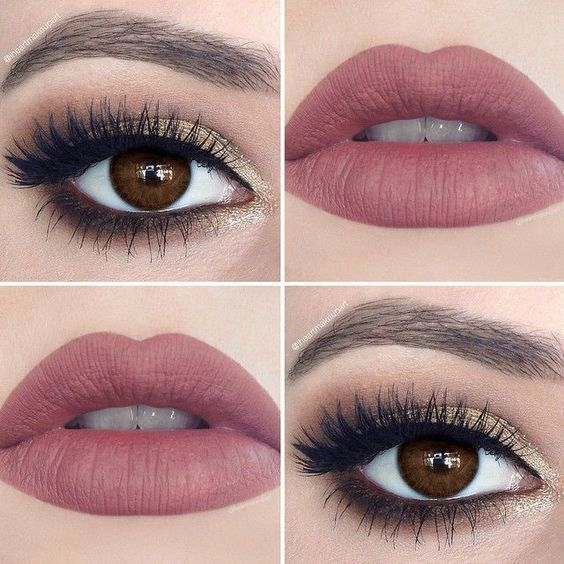 Weekend makeup for my brown eyed girls