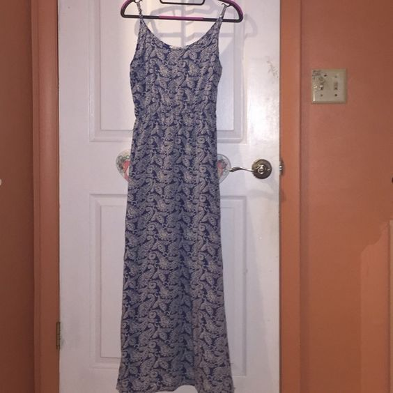 Paisley Print Maxi Dress So soft and lovely! True to size and worn only 3 times. Only one available in stock.  adjustable straps AnM Dresses Maxi