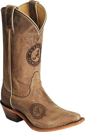 Alabama Crimson Tide Western Cowboy Boots I Love !!! #Alabama #Boots