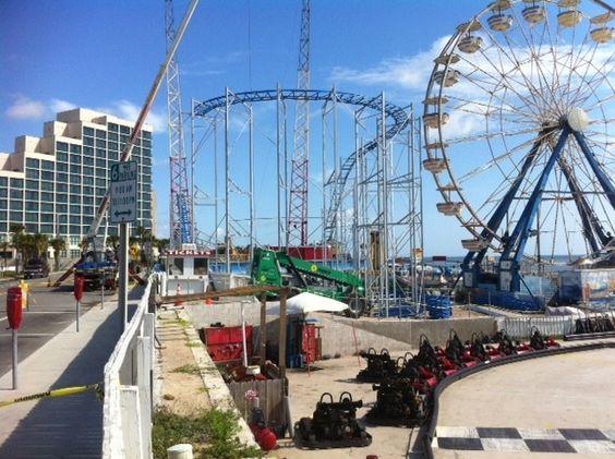 Daytona Beach Boardwalk 2017 Hotel Hilton Oceanwalk Resort Pinterest And Vacation