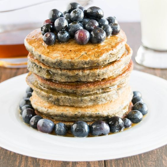 Blueberry Smoothie Spelt Pancakes are healthy breakfast with required protein lots of antioxidant and omega 3 along with the goodness of whole grains.