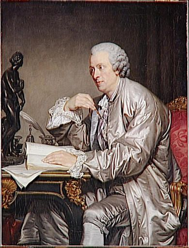 Retrato de Claude-Henri Watelet frente a la Venus de Médici, c. 1765