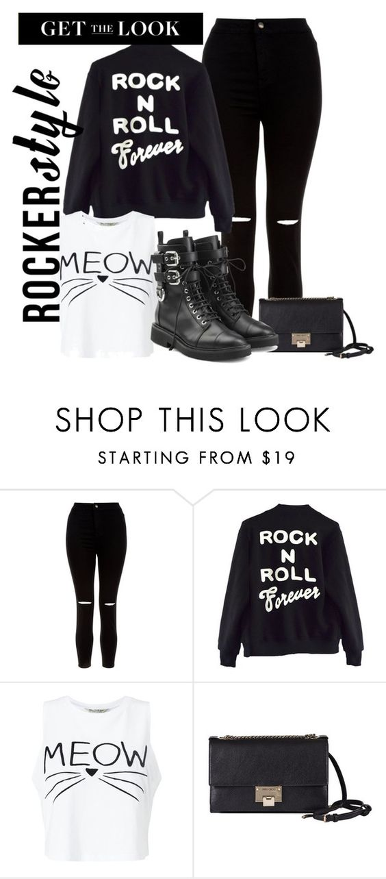 """Rock Out"" by ashantay87 ❤ liked on Polyvore featuring New Look, High Heels Suicide, Miss Selfridge, Jimmy Choo, Giuseppe Zanotti, rockerchic and rockerstyle"