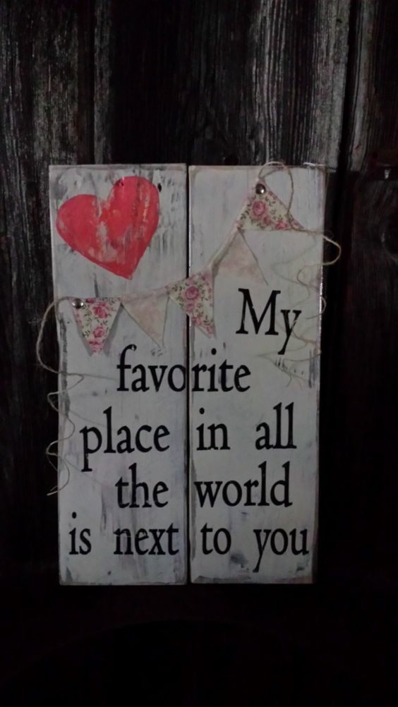 Reclaimed wood, pallet wood, wood sign, Valentine's Day, Love, home decor, home and living, Valentine decor, Valentine sign, My favorite, by BoxedCreativity on Etsy: