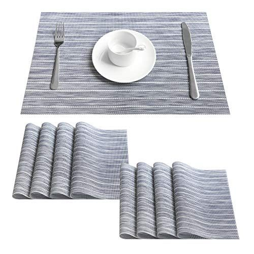 Top Finel Placemats For Dining Table Woven Vinyl Place Ma Https Www Amazon Com Dp B07lcf1kz5 Ref Cm Sw R Pi Dp U X 29 Dining Table Placemats Kitchen Table