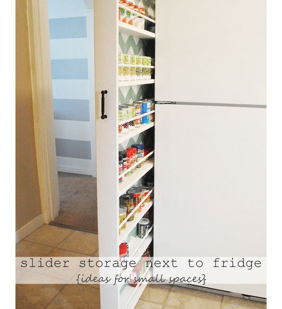 Small apartment organization small apartments and sliders on pinterest - Small space storage ideas pinterest decor ...