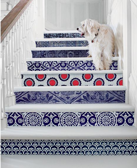 Beautiful stair fronts via Coconut and Bean