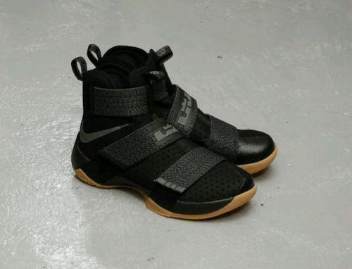 d0610cba7 Nike Lebron Soldier 10 Black Gum 844378-009 CAVS FINAL Game 7 Champions Sz  12