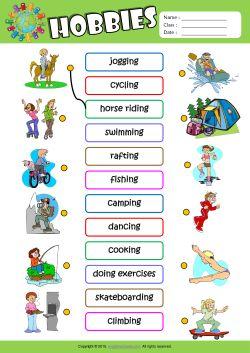 Worksheets Exercise Worksheets For Kids transportation esl matching exercise worksheet for kids mau hinh hobbies kids