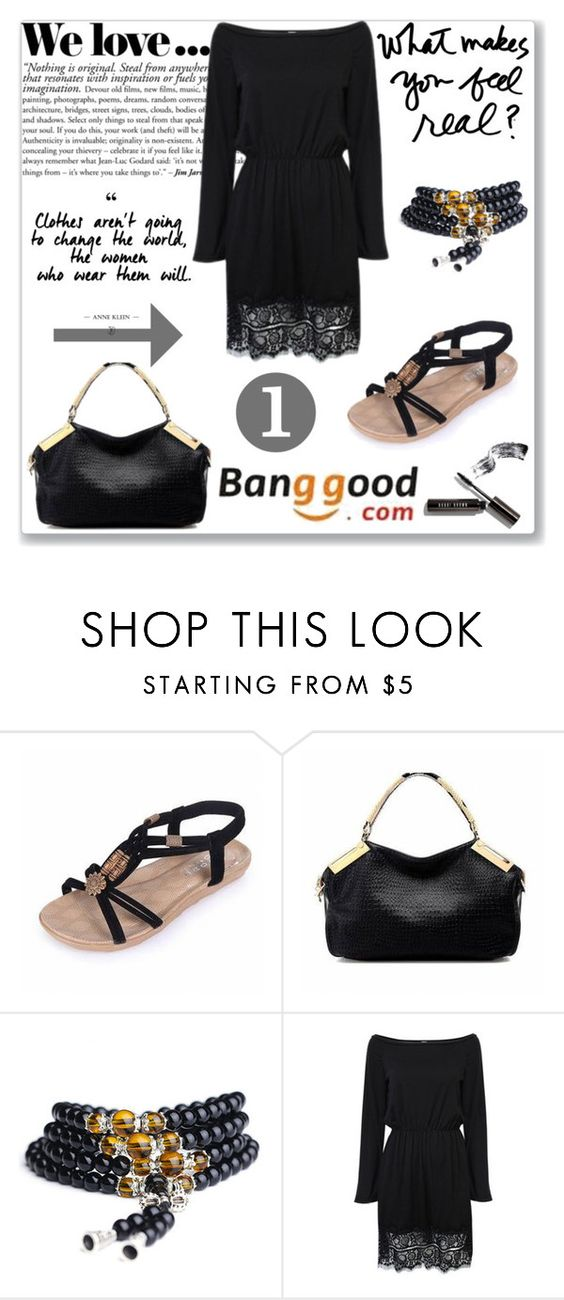 """Bangood 7"" by mery66 ❤ liked on Polyvore featuring Zara, Bobbi Brown Cosmetics, BangGood and fashionset"