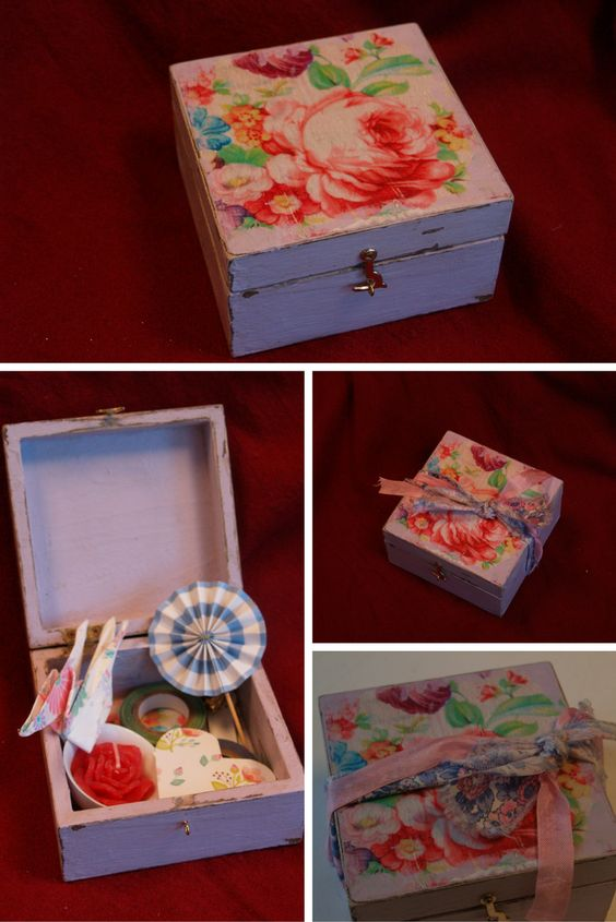 A unique box made by Heart Handmade for ParcelHero's Winter Workshop. It's being sold on eBay to raise money for Great Ormond Street Hospital.