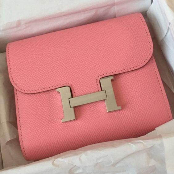 blue ostrich handbag - Brand new Hermes Constance short wallet/coin purseNWT | Hermes ...