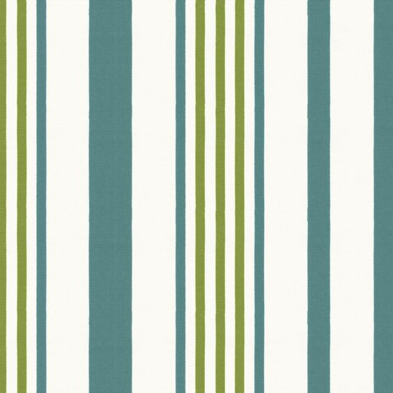 Teal & Green Stripe Indoor Outdoor Fabric 18in