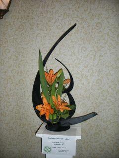 VFGC 2010 Flower Show flower arrangement Black and orange
