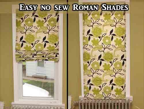 Roman Shades No Sew And On Pinterest