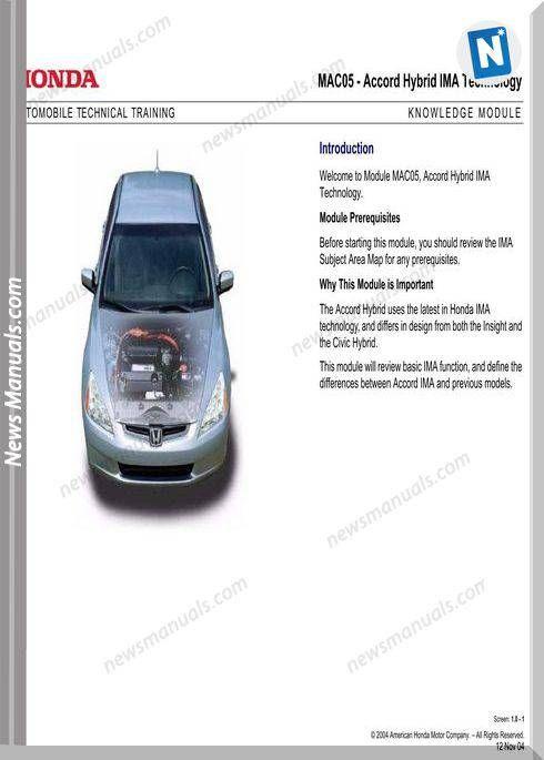 Honda Automobile Technical Training Electrical Diagram Automobile Honda