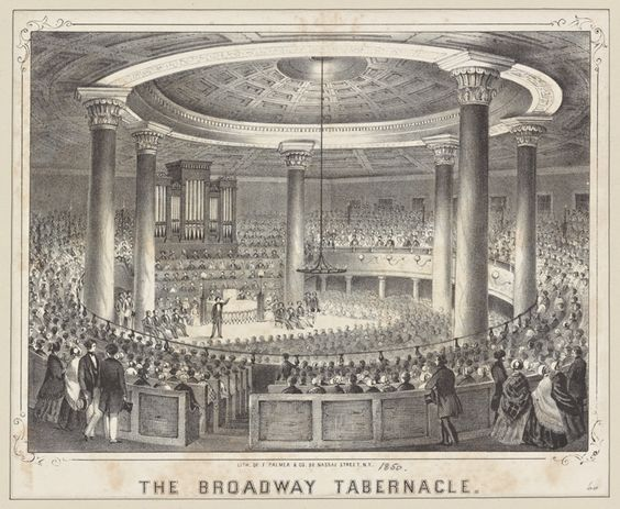 The Broadway Tabernacle, NY c.1845. See Kilde, p. 155.