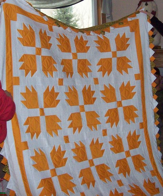 I love two color quilts.  This is just so nice..  by Nate & Veronica Quilt: