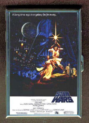 "Star Wars Light Saber Poster ID Holder, Cigarette Case or Wallet: MADE IN USA! by Penny Silver. $11.99. All production on this sturdy solid steel case is done in the United States! It measures 4"" x 2 3/4"" x 5/8"", has a spring-opening mechanism, two inside bars with springs, and a very strong latch. This case protects credit cards from RFID theft and demagnetization. The vivid, high-quality image is thickly coated with a virtually indestructible, perfectly clear, waterproo..."