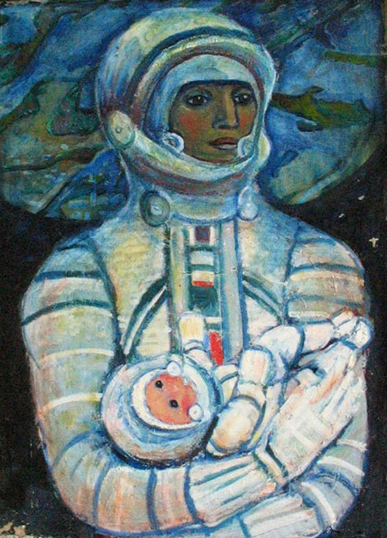 Galina Konopatskaya,Cosmic Mother,1970,124 x 91,Courtesy of North Caucasus Branch o.jpg (640×890)