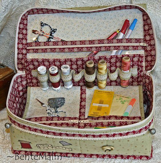 Costurero patchwork pinterest beautiful bolsos y - Cesta de costura ...