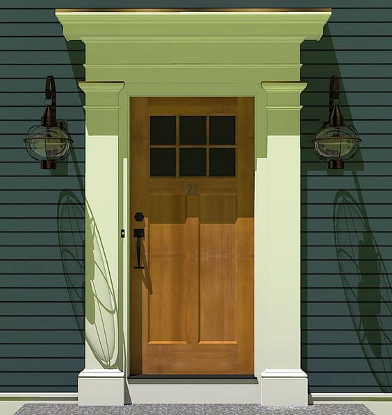 Front door and house color